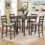 tahoe grey pub counter height dining set