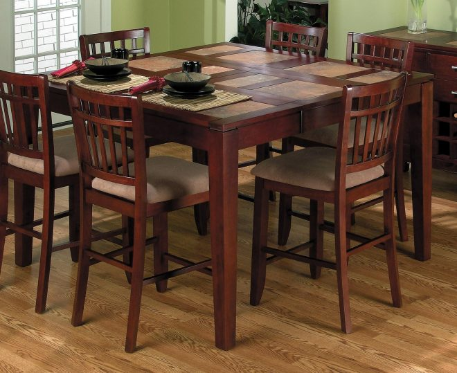 tall kitchen table with 8 chairs in 2020 square kitchen