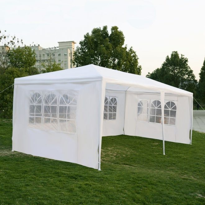 tangkula 10x20 wedding tent 4 walls with window bbq party