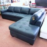 teal leather sectional sofa blue leather sofa blue