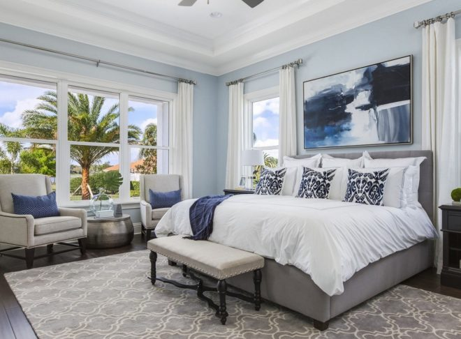 teal painting trends for 2017 for coastal bedroom decor idea with