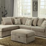 textured chenille sectional in taupe