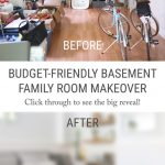 the big reveal my budget friendly living room basement makeover