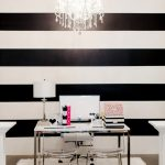 the black and white striped wall decorating i love white