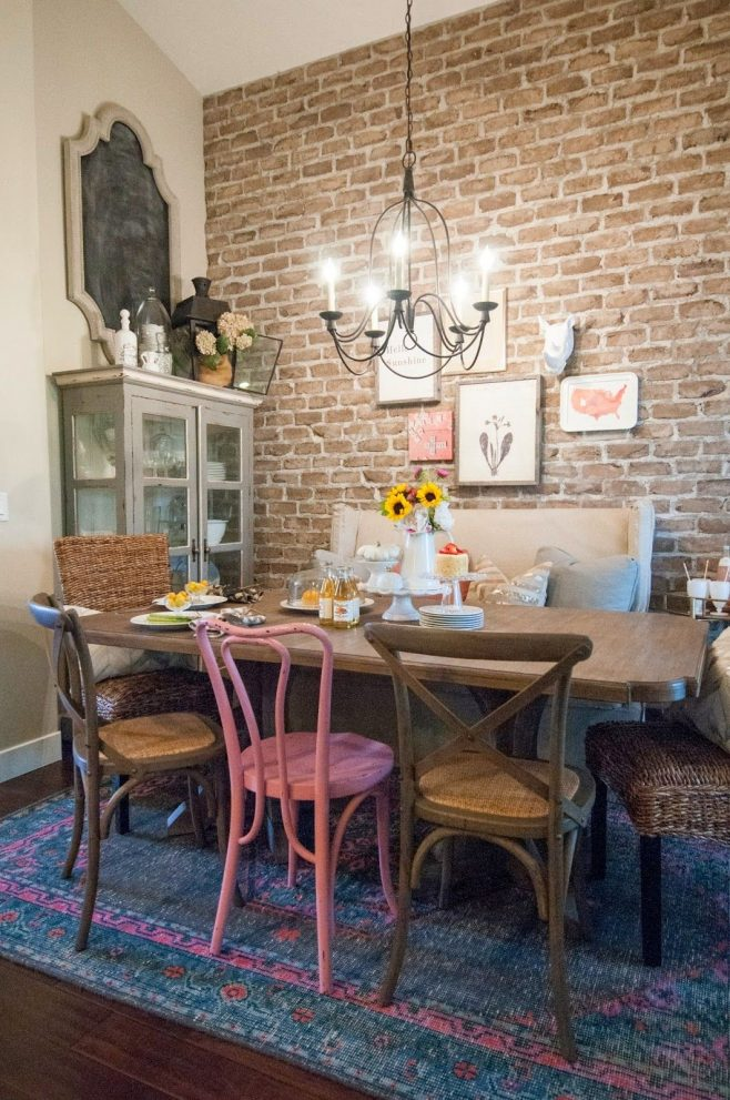 the black goose design blog eclectic dining room with