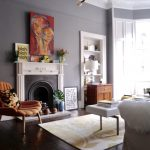 the colours pop against dark grey walls dark oak floors and