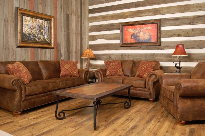 the country home furniture pieces feature western horse