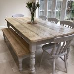 the florence clear table made from reclaimed wood