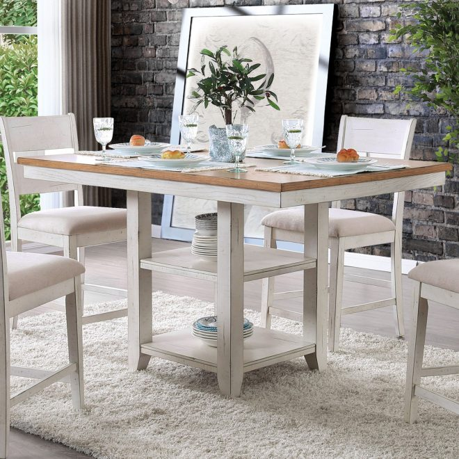 the gray barn argus hill antique white counter height dining table antique whiteoak