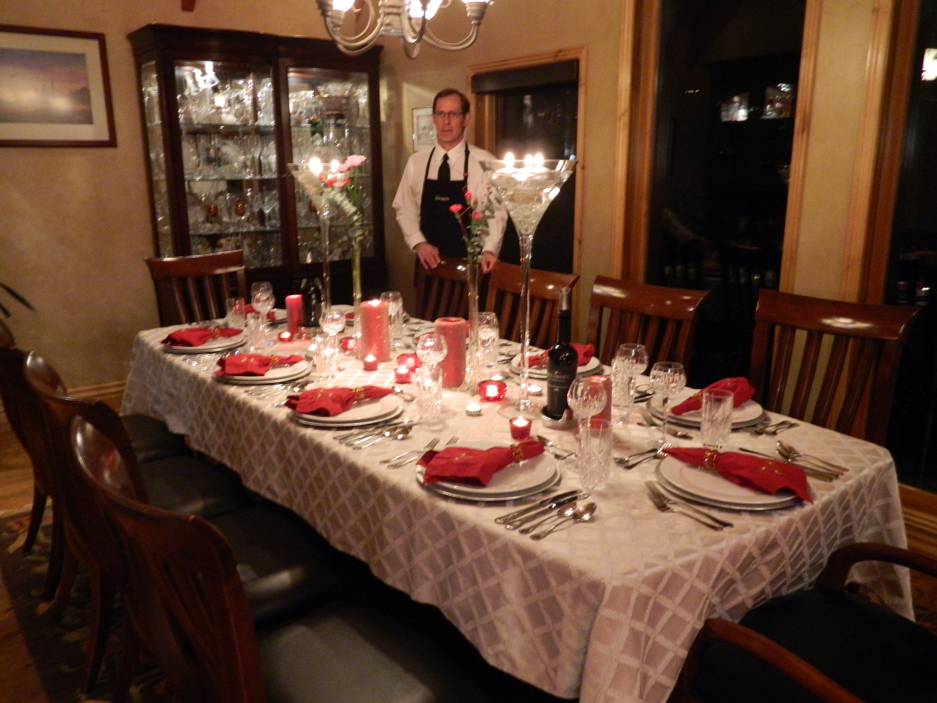 the laughing pear group presents it standard dining room set up