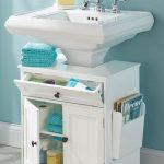 the pedestal sink storage cabinet furniture pinterest bathroom