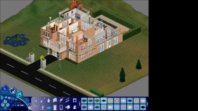the sims 1 house build superstar mansion