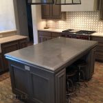 the turner cast zinc island countertop features a beautiful