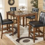 theo 5 piece square counter height table set