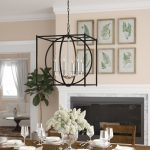theobald 6 light candle style rectangle square chandelier