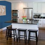 this brilliant special design blue accent wall white kitchen we