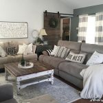 this country chic living room is everything