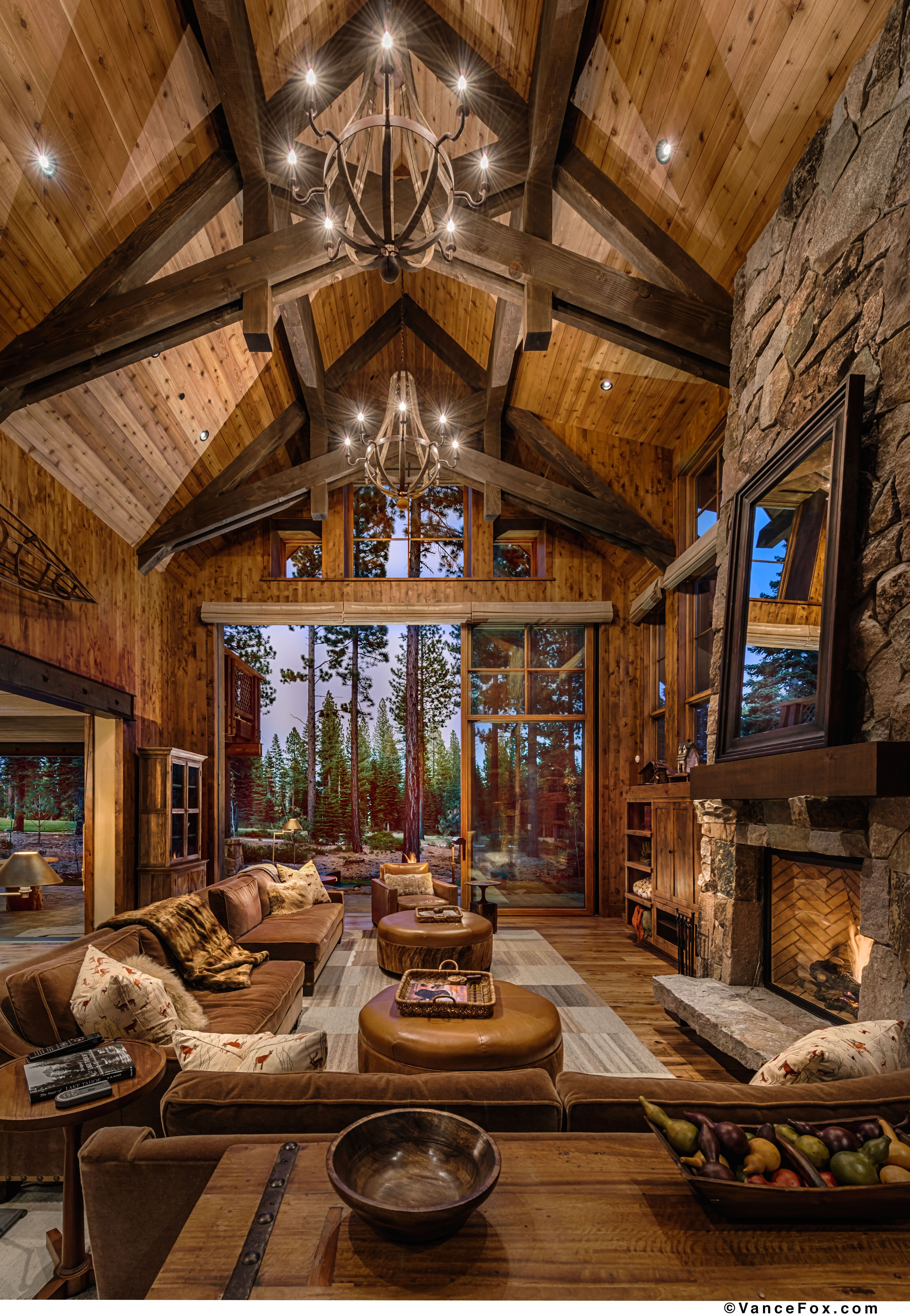 this great room is the epitome of mountain living and indoor outdoor