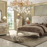 this pearl finish victorian style bedroom set from homey