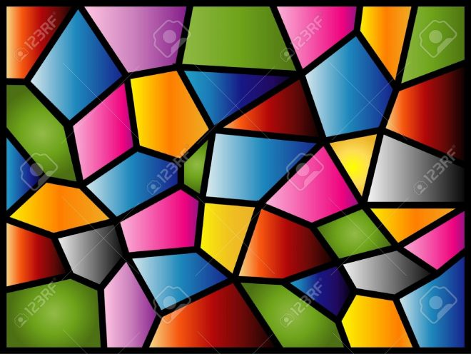 this stained glass design was inspired the texture of the