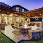 this traditional hill country outdoor living room is a great