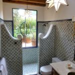 tile on faucet wall of shower spanish style homes spanish