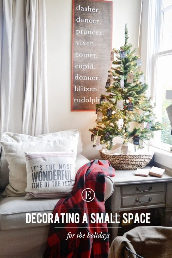 tips for decorating a small space for the holidays
