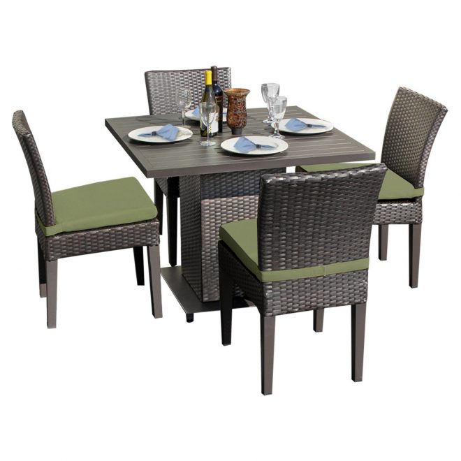 tk classics square dining table with 4 chairs walmart