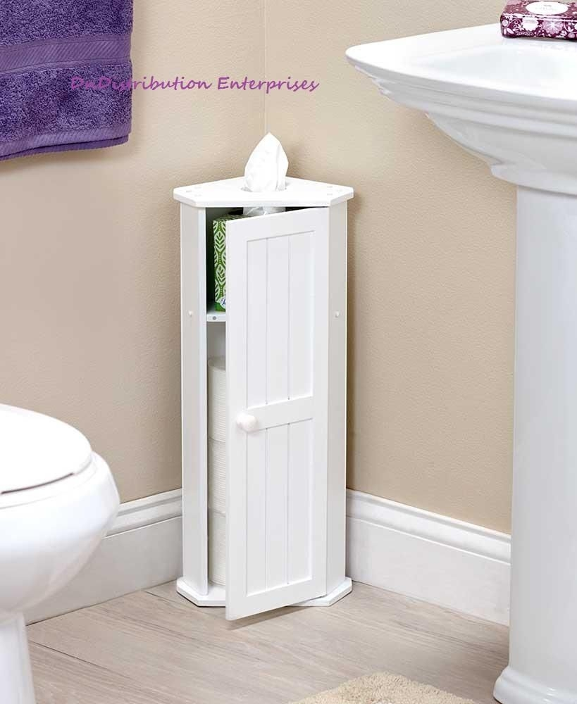 toilet paper corner storage cabinet space saving magnetic