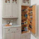 traditional kitchen cabinet with pantry built into it