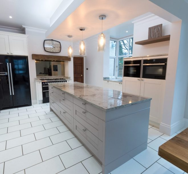 traditional shaker style kitchen with a modern twist for customers