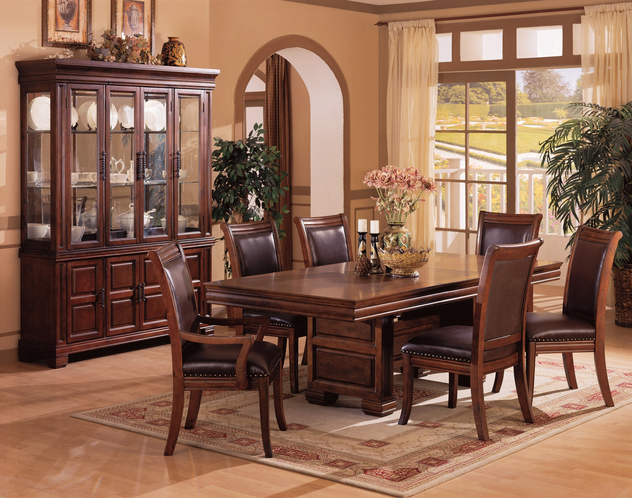 traditional table set for the dining room solid wood dining