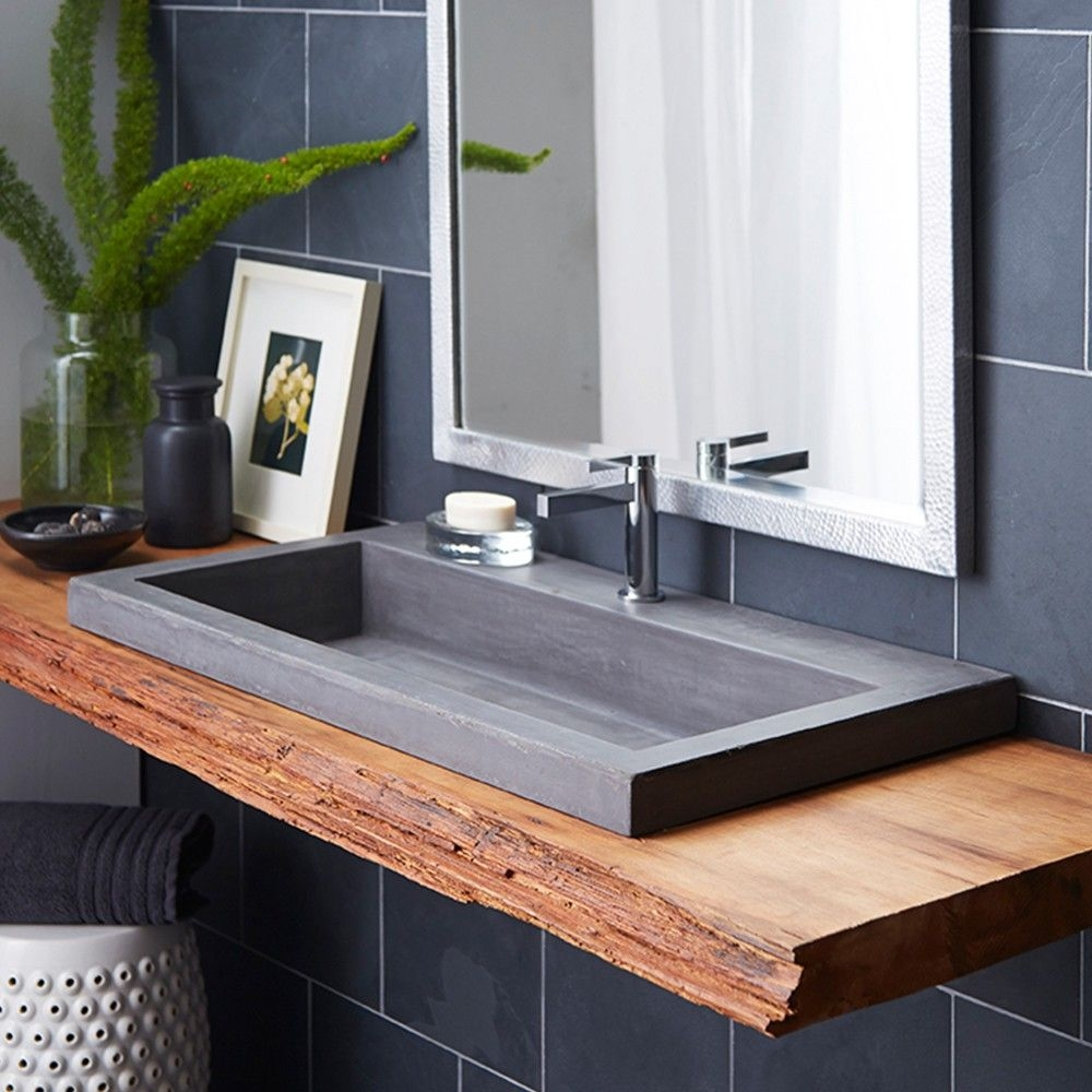trough 3619 nativestone rectangular bathroom sink bathrooms
