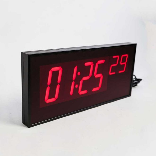 ts5461 wireless digital led wall clock for schools and commercial