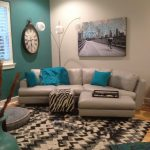 turquoise accent wall for the home living room