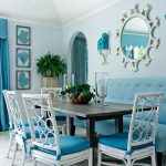 turquoise dining room bench baker furniture chairs blue