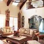 tuscan living room with old world charm love the curtains