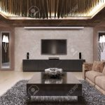 tv unit in luxury living room designed in modern style the design
