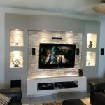 tv wall design for small living room heppe