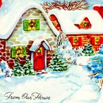 two crazy crafters vintage christmas cottage card