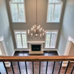 two story family room with coffered ceilings for the home