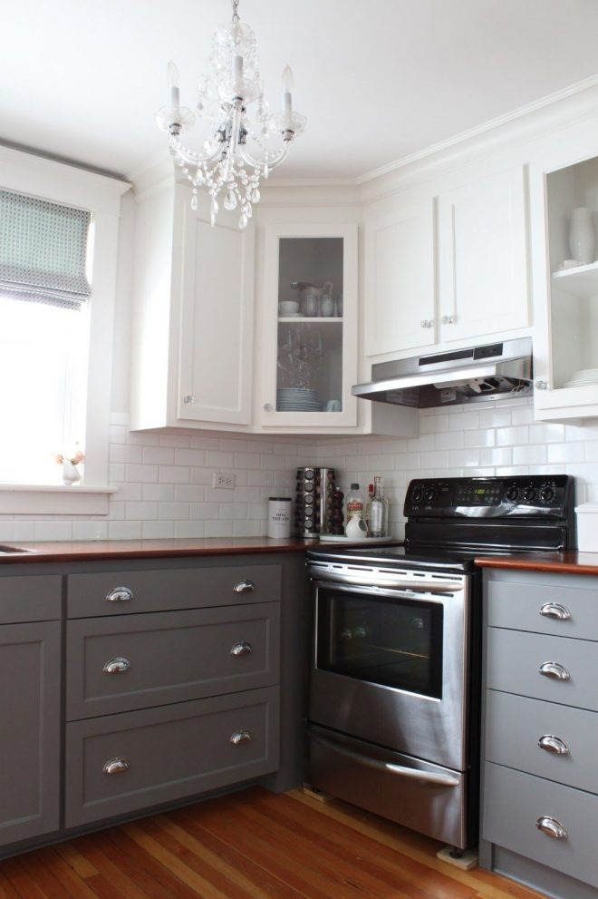 two tone kitchen design ideas yeppe