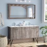 union rustic ellison nature wood 59 double bathroom vanity set with