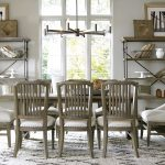 universal furniture curated chelsea dining room set in studio