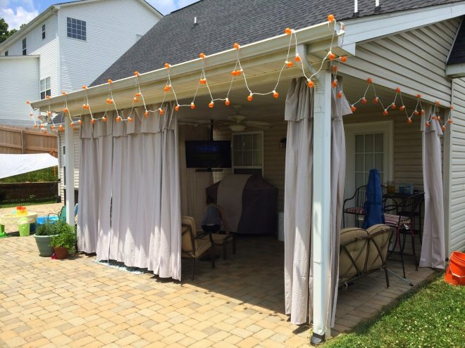 upside of chaos no sew outdoor curtains