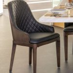 urban deco madrid black faux leather dining chair pair