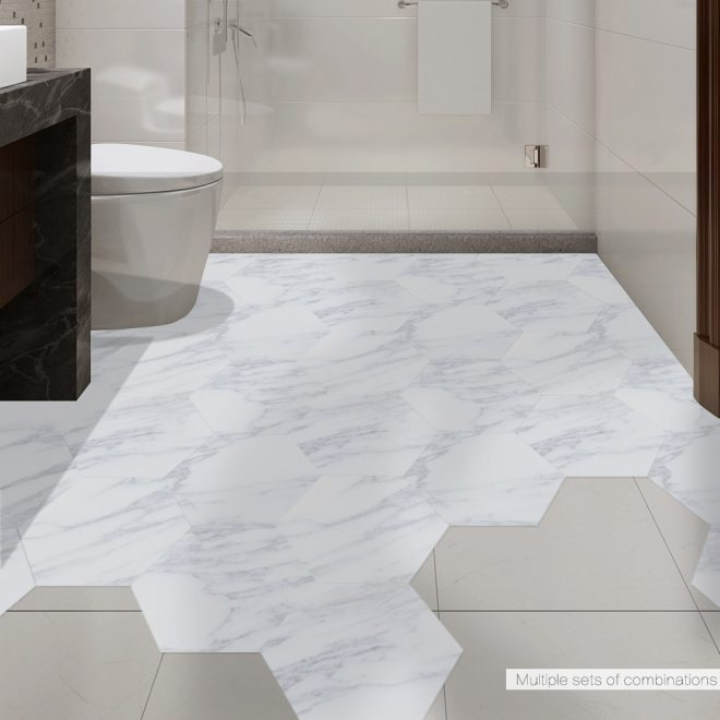 us 1148 40 offfunlife waterproof bathroom floor tile sticker adhesive pvc marble floor decal peelstick sticker non slip home entrance decor in