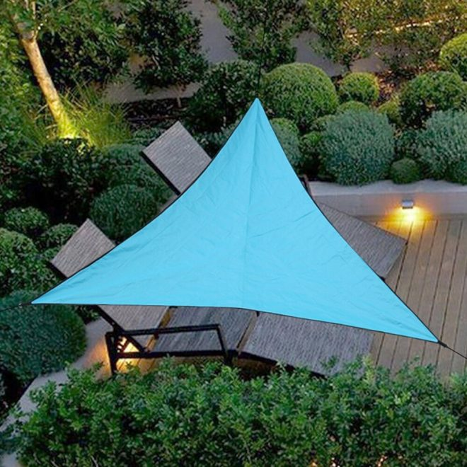 us 122 36 offoutdoor triangular sunshade sail shelter water resistant patio cover canopy uv protection shade cloth 333 444 666 in sun