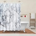 us 1429 45 off72 vintage marble texture style bathroom fabric shower curtain liner waterproof polyester curtain accessory sets 12 hooks in