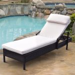 us 14599 giantex chaise lounge chair brown outdoor wicker rattan couch patio furniture wpillow outdoor furniture hw54463 in sun loungers from